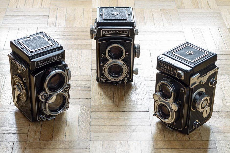 Parmi les TLR (ou appareils photo reflex bi-objectif) de bonne facture : Rolleicord, Rolleiflex, Yashica Mat 124