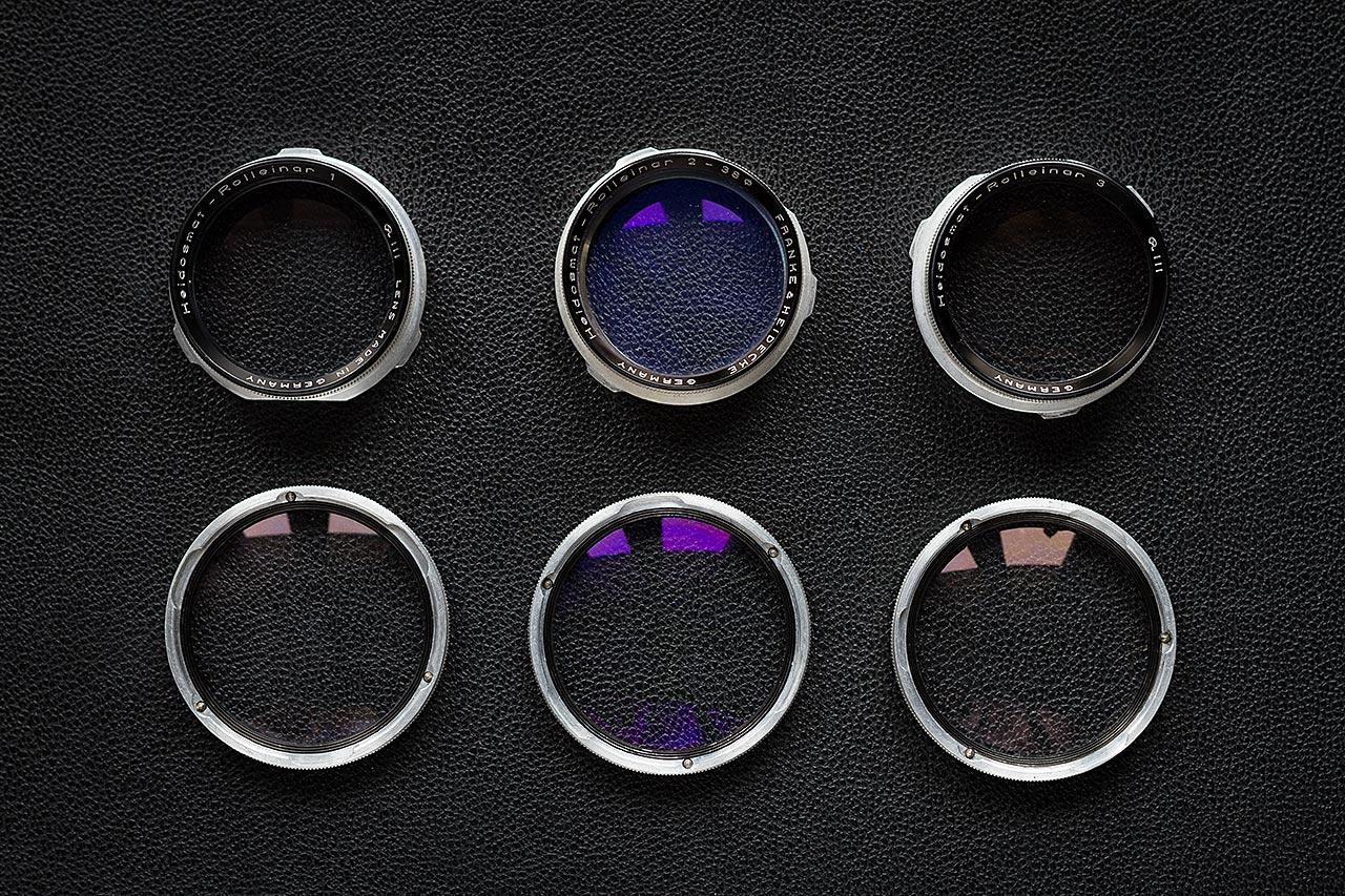 Set complet de Rolleinars RIII pour Rolleiflex 2.8