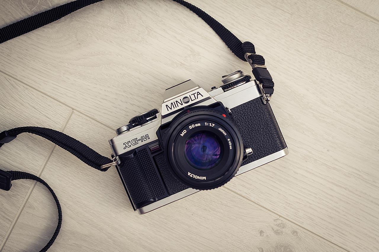 Appareil reflex argentique Minolta XG-M